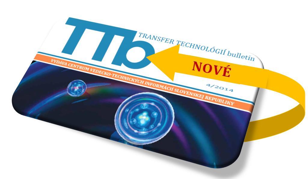TRANSFER TECHNOLÓGIÍ bulletin