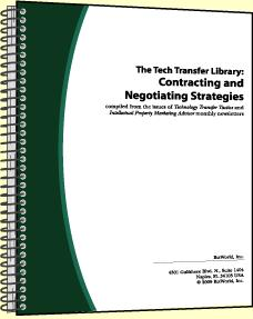 The Tech Transfer Library: Contracting and Negotiating Strategies. Volume II