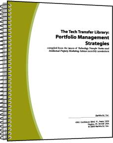 The Tech Transfer Library: Portfolio Management Strategies. Volume II