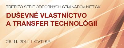 Duševné vlastníctvo a transfer technológií 3