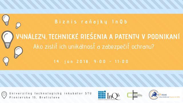 Pozvánka Biznis raňajky InQb 14.6.2018
